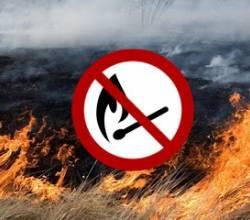 Попередження про заборону спалювання сухої трави!